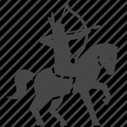 american, archer, horse, indian, war, warrior icon