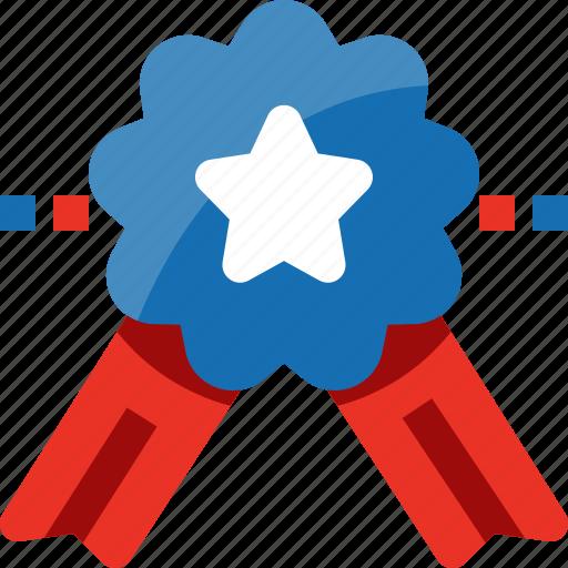 badge, medal, prize, reward, star, united state, usa icon