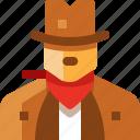 avatar, cowboy, man, state, united, usa icon