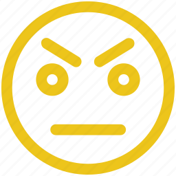 angry, emoji, frown icon icon