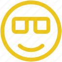 emoji, glasses, smile icon icon
