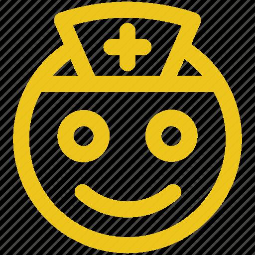 medical, nurse, sign emoji icon icon