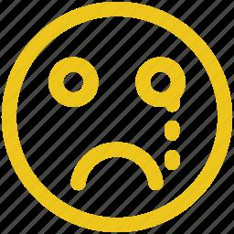 emoji, emoticons, face, flushed, shock, smiley icon icon