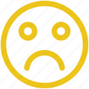 depressed, emoji, emoticon, sad icon icon