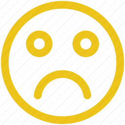 depressed, emoji, emoticon, sad icon icon