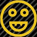 emoji, face, happy, smile, smily icon