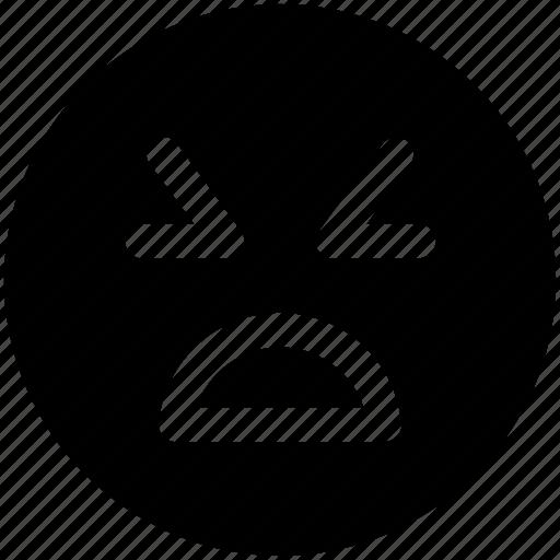 emoticon, mouth, tired face emoji icon