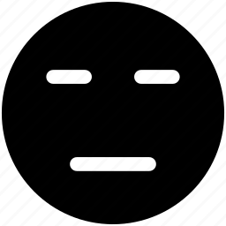 emoji, face, neutral icon icon