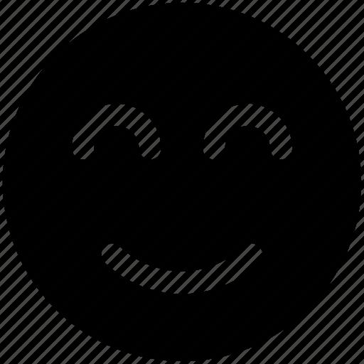 emoji, emoticon, happy, satisfied, smile icon icon