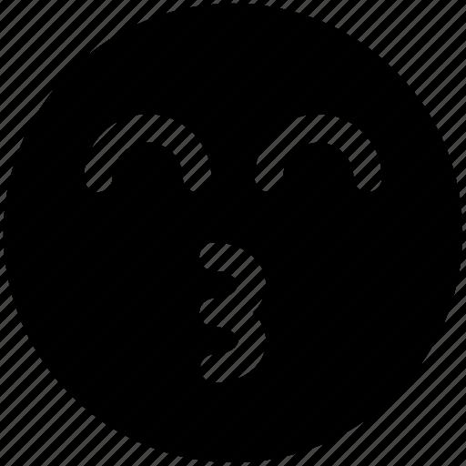 chat, communication, cuttie, emoji, emoticons, face, love icon icon