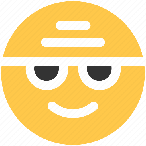 chat, emoji, emoticons, face, glasses, happy, wearing icon icon