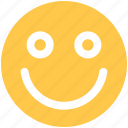 emoji, emoticon, face, happy icon icon