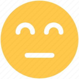 emoji, emoticon, face, impassive icon icon