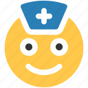 medical, nurse, sign emoji icon icon