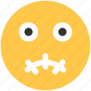 emoji, emoticons, face, surprised icon icon