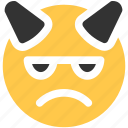 angry, emoji, emoticon, mad icon icon