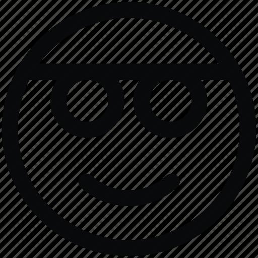 emoji, glasses, smile icon icon