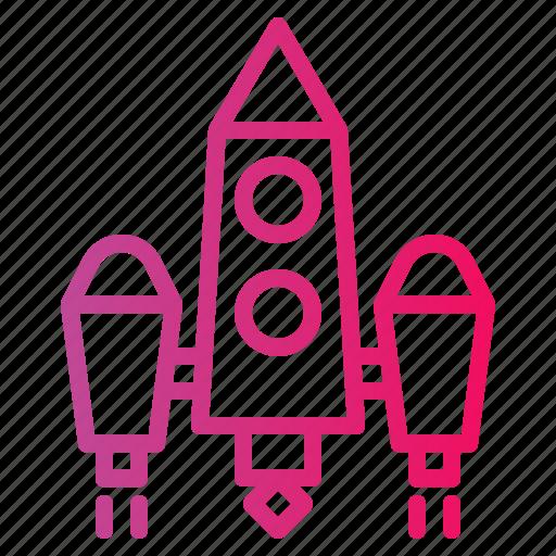 rocket, ship, startup icon