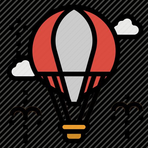 air, balloons, carnival, hot, travel icon
