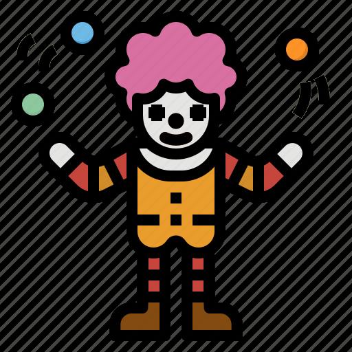 amusement, circus, clown, funny, park icon