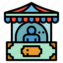 access, office, shop, stand, ticket icon