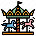 amusement, carousel, circus, fairground, park icon