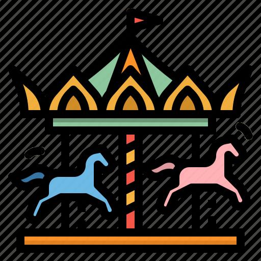 amusement, carousel, circus, fairground, park icon