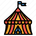 amusement, circus, fancy, park, tent