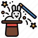magic, magician, party, rabbit, show icon