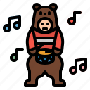 bear, costume, mascot, people, puppet