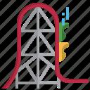 roller, coaster, amusement, childhood, fun, park fair