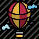 balloon, hot, air, flight, holidays, transportation