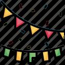 garland, christmas, lights, xmas, illuminate, decoration icon
