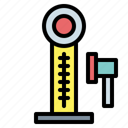 hammer, strenght, strength tester icon