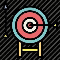 archery, arrow, darts, target icon