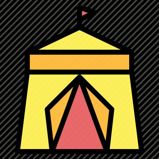 circus, entertainment, tent icon