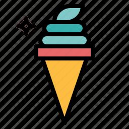 ice cream, summertime icon
