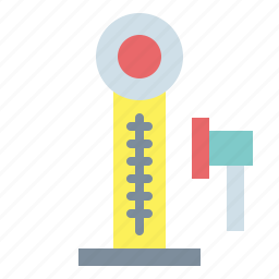 hammer, strength tester icon