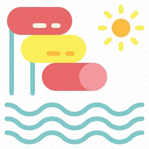 water park, water slide icon