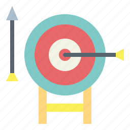 archery, arrow, darts, target icon