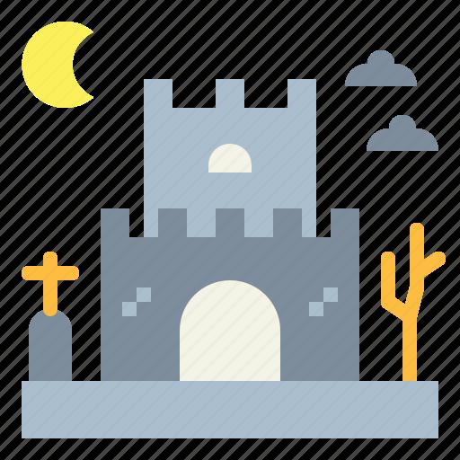 castle, creepy, creepy castle, horror, scary icon