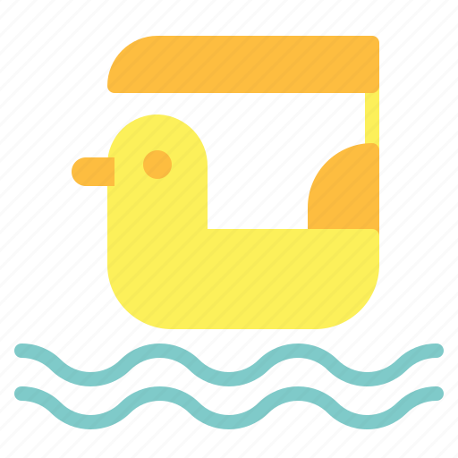 boat, duck, pedal boat icon