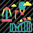 amusement park, theme park, wonderland icon