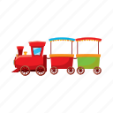 cartoon, children, locomotive, railroad, toy, train, transport icon