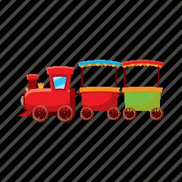cartoon, children, locomotive, railroad, toy, train, transport icon