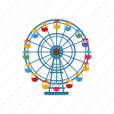 amusement, cartoon, entertainment, ferris, fun, park, wheel icon