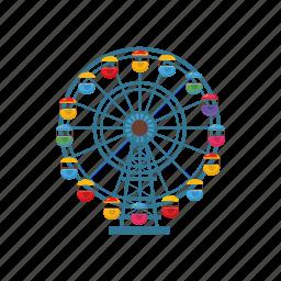 amusement, cartoon, entertainment, ferris, fun, park, wheel icon