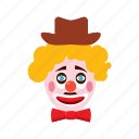 carnival, cartoon, clown, face, hat, humor, jester icon