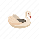 boat, bumper, cartoon, childhood, fun, park, swan icon