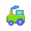amusement, cartoon, kid, locomotive, park, toy, train icon